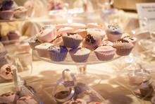 Cute Little Cake In An Wedding Atmosphere
