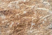 Uneven Face Of Granite Boulder In Hurricane Barrier