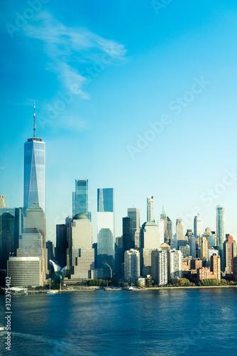 Fototapeta New York City skyline and Downtown Manhattan from Jersey City obraz