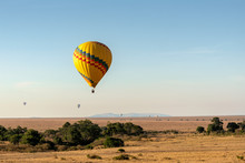 Brightly Colored Balloon Flyin...