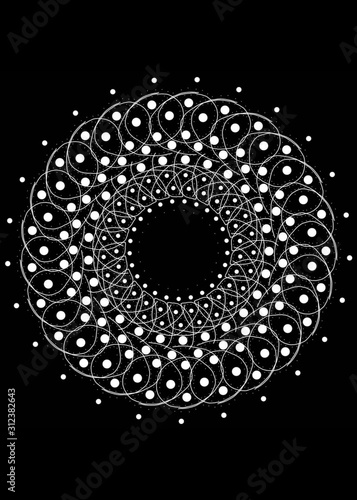 Biała spirala Canvas Print