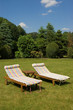 canvas print picture - Sommerliegen im Garten