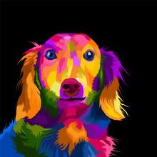 Colorful Dog Pop Art Portrait ...