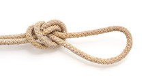 Marine Knot From The Old Rope.