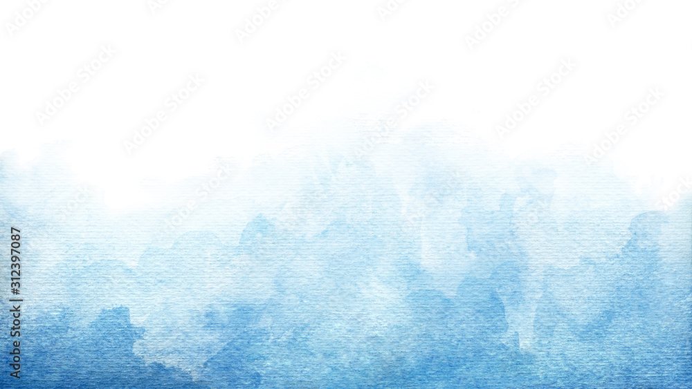Fototapeta Blue azure turquoise abstract watercolor background for textures backgrounds and web banners design