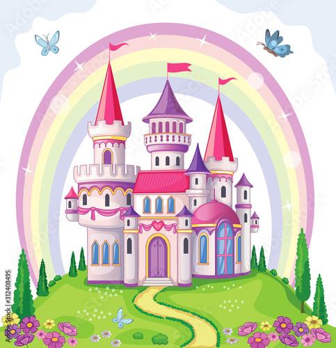 Photo Fairy-tale castle for Princess, magic kingdom