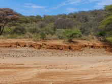 Rock Formation In A Dried Out Riverbed At Lake Eyasi And Landscape Near Mangola Gorofani Tanzania Africa