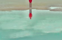 Man Alone With The Sea, Sad, Depression, Loneliness, Surreal Painting