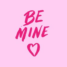 Be Mine Valentine's Text Pink ...