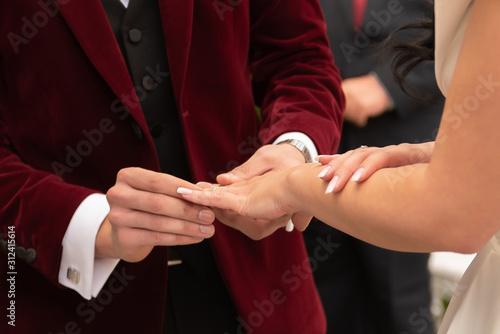 Photo anillo boda matrimonio