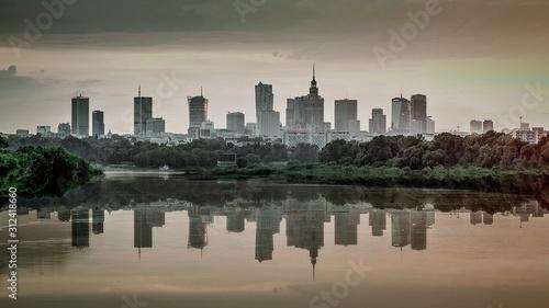 Fototapeta Warszawa wieżowce w centrum obraz