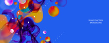 Abstract Futuristic Background 3d Colorful Balls Vector Illustration Pearls Gentle Pastel Shades