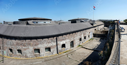 Fort Pampus, the island fort on an artificial island was once part of the Defenc Fotobehang
