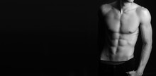 Muscular Fit Male Body , Black...
