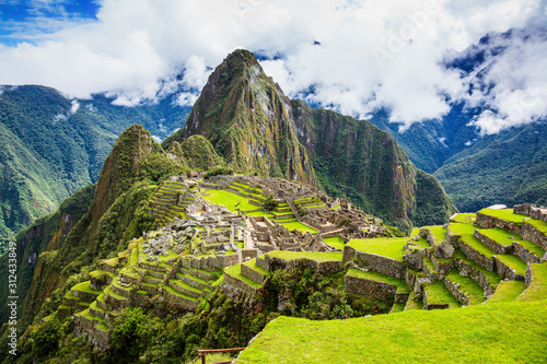 Machu Picchu, Peru. Canvas Print