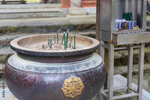 写真素材:香炉、根香寺、四国霊場、お寺、四国、お線香 Slika na platnu