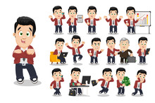Big Vector Cartoon Set With Br...