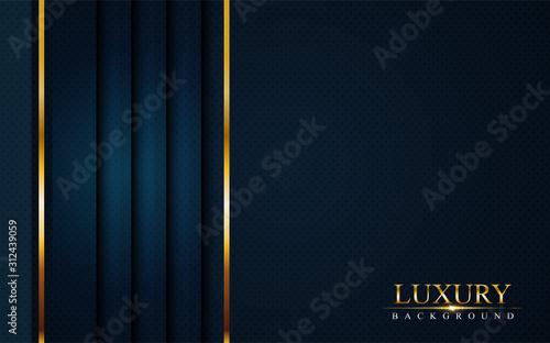 Valokuvatapetti luxurious dark navy blue background with golden lines