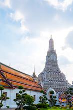 Prang Of Wat Arun, Bangkok, Thailand.