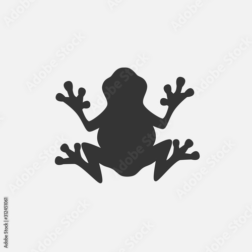 obraz lub plakat frog icon vector illustration for graphic design and websites