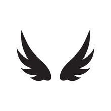 Wing Icon Design Template Vect...