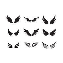 Set Of Wing Icon Design Templa...