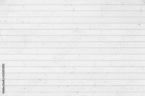 Fototapeta New natural white wooden wall, background texture obraz
