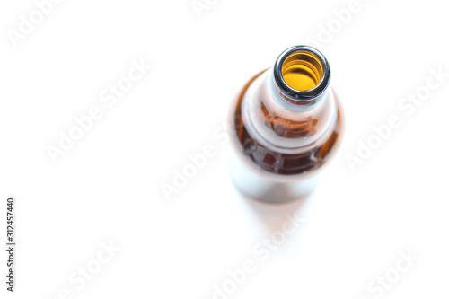 Top View Of A Bottleneck, Empty Bottle isolated Canvas Print