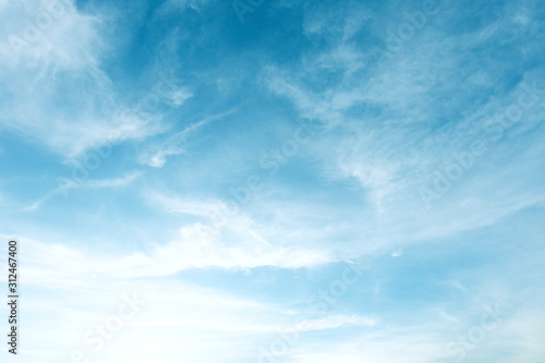 Beautiful Blue Sky Background With White Clouds Fototapeta