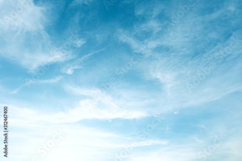 Fototapeta Beautiful Blue Sky Background With White Clouds obraz