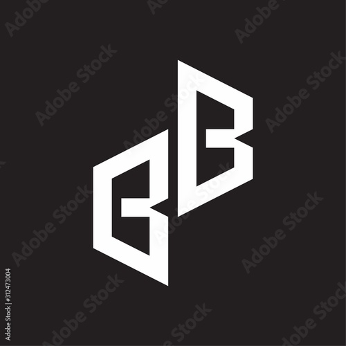 BB Initial Letters logo monogram with up to down style Wallpaper Mural