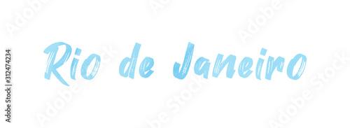 Fotomural web Label Sticker Rio de Janeiro