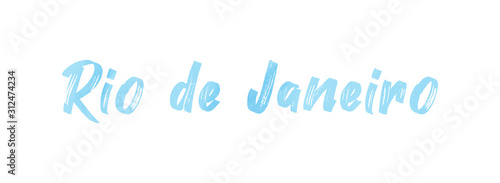 web Label Sticker Rio de Janeiro Canvas Print