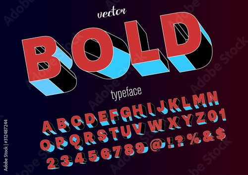 Fototapeta font vector .typeface rough font- Abstract modern alphabet and  fonts. happy Typography creative font design old style Vector of stylized alphabet font obraz na płótnie