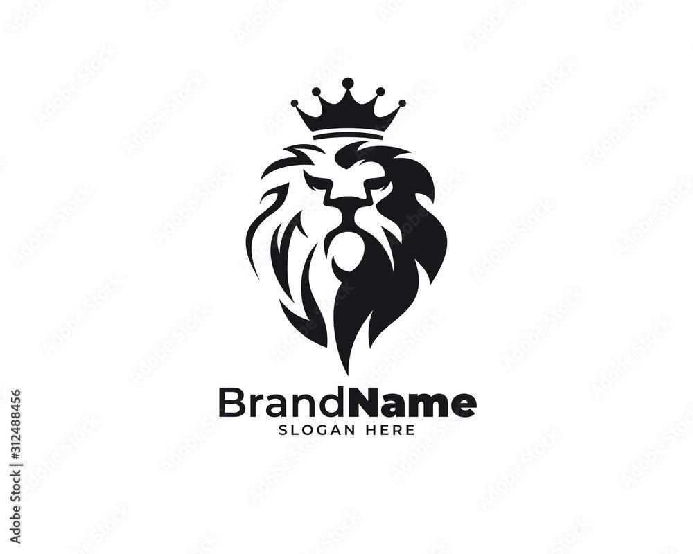 Fototapeta lion head design logo vector