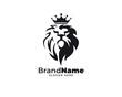 lion head design logo vector