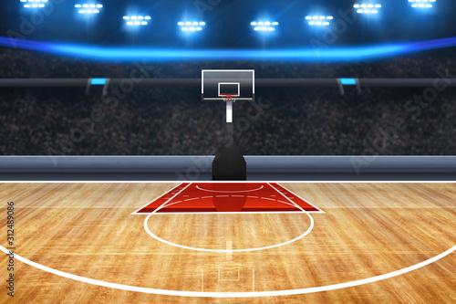 Photo Professional basketball court arena background