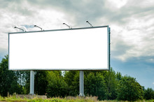 Huge Billboard Mockup In The Park