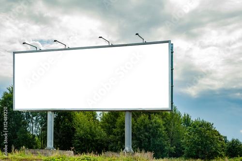 Obraz Huge billboard mockup in the park - fototapety do salonu