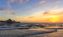 Sunset Over The Gulf Of Mexico...