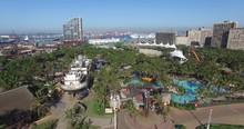 Durban Beach Aerial Drone City Coastline