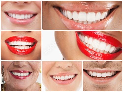 Collage of people smiling #312499619
