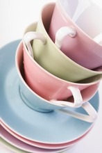 Close - Up Of Coffee Cups In S...
