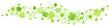 Geschwungene Bordüre Große Und Kleine Kleeblätter Grün