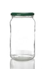 Studio Shot Of Jar On White Ba...