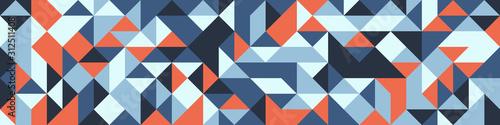 Obraz Pattern with random colored Diamonds Generative Art background illustration - fototapety do salonu