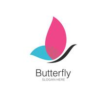 Butterfly Logo Design Vector Concept