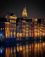 Reflections In Amsterdam Canal...