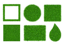 Green Grass Background 3D Set ...