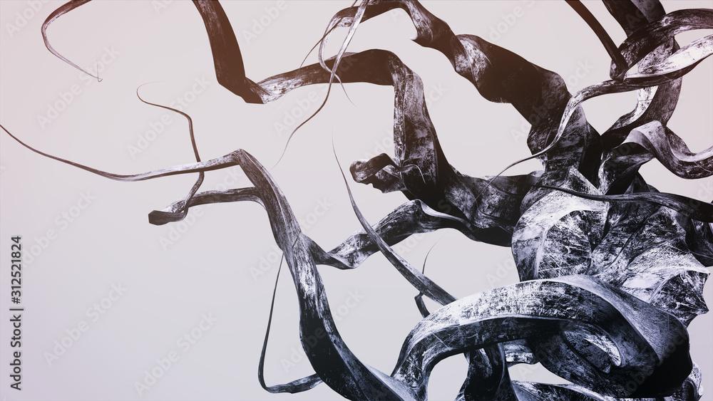 "Fototapeta Abstract Art • DYSTOPISCHE ÄSTHETIK"" [N°055] • Fraktale Grafik Serie ⁞ 3D Illustration"